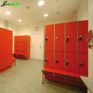 Red Sports Locker with Bench pictures & photos
