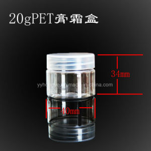 20ml Pet Clear cosmetic Jar with PP Lid/Plastic Jar/Wide Mouth/Candy Jar pictures & photos