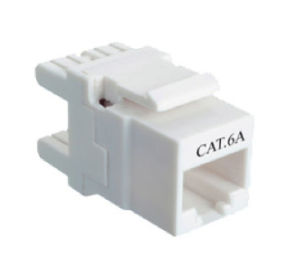 Ce Certificate Unshielded CAT6A Keystone pictures & photos