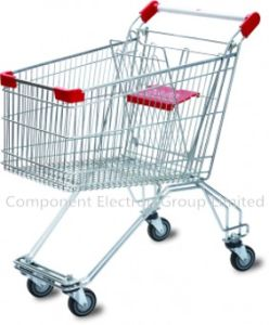 Hot Sell Good Cheap 150 Liter Russia Style Chrome Supermarket Trolley Dimensions (YB-M-03) pictures & photos