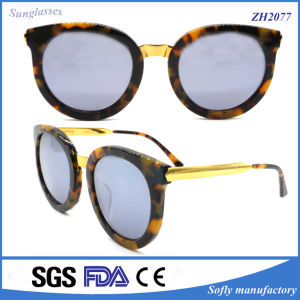 ODM/OEM Custom Round Acetate Sunglasses with UV 400 Polarized Lens pictures & photos
