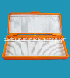 Microscope Slides Storage Boxes with Hinged Lid-50places, ABS pictures & photos