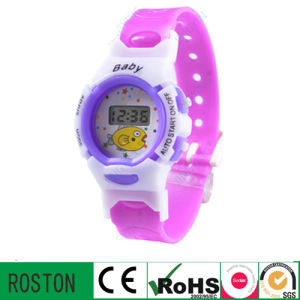 Fashion LED Digital Children Watch with Plastic pictures & photos