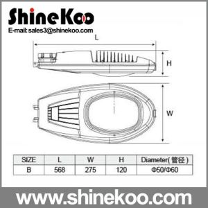 40W 57cm Middle LED Housing for Street Lamps pictures & photos