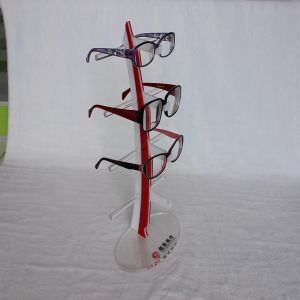 World Pride Sunglasses Rack Holder Glasses Display Stand (Black,; Clear, Red, Glass Color) pictures & photos