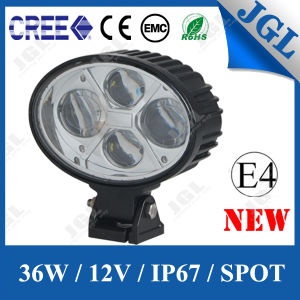 36W Oval Shape CREE LED Work Light Offroad Headlight pictures & photos