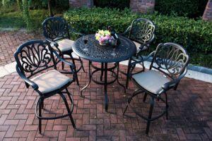 Garden Barstool Set Cast Aluminum Furniture pictures & photos