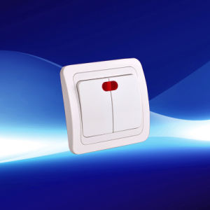 2 Gang Wall Switch European Style with Light (YW8002) pictures & photos