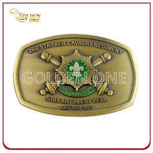 Promotional Antique Brass Plated Soft Enamel Metal Belt Buckle pictures & photos