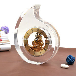 High Quality Crystal Glass Table Clock pictures & photos