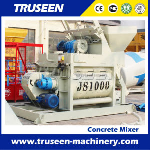 Js1000 Twin Shaft Clay Mixing Machine/Cement Mixer pictures & photos
