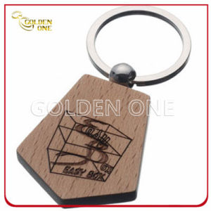 Custom Style Laser Engraving Logo Wooden Key Chain pictures & photos