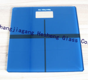 6mm Blue Printing Toughed Glass as Scale Surface pictures & photos