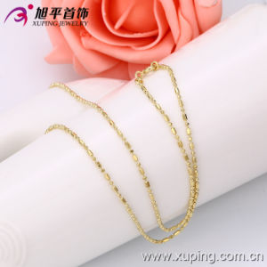 Xuping Fashion 14k Gold Color Granule-Shaped Necklace (42460) pictures & photos