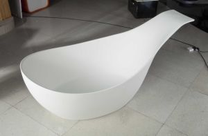 Modern Simple Style Acrylic Solid Surface Bathtub pictures & photos