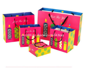 Lovely Colorful Carton Paper Handle Bags for Children pictures & photos