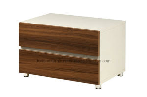 Modern Wooden Walnut & White Bedside Table (B1012) pictures & photos