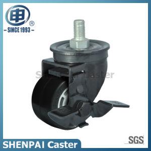 "2.5""Rubber Threaded Stem Swivel Brake Caster Wheel pictures & photos"