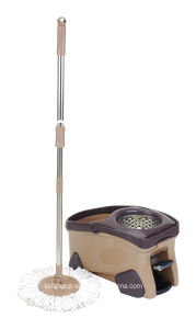 Hand Press Spin Mop with Steel Basket Bucket with Pedal (SL-S002)