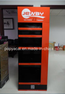 Digital Printing Recycled Pop Cardboard Floor Pallet Display Shelf Unit for Electroncis pictures & photos
