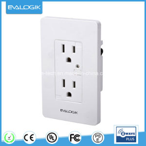 Z-Wave Wall Mounted Smart Socket with Power Meter pictures & photos