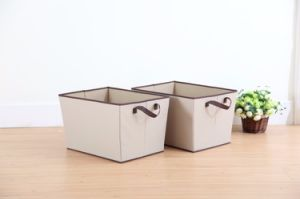Durable Woven Fabric Foldable Storage Basket pictures & photos