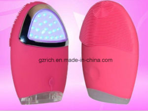 Silicone Facial Brush with LED Therapy pictures & photos