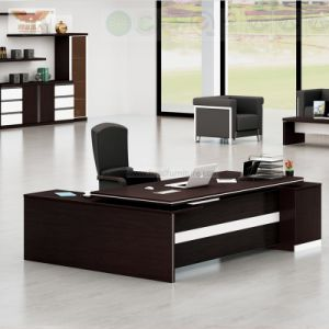 New Design Soild Wood Office Executive Desk with Fsc Forest Certified Approved by SGS pictures & photos