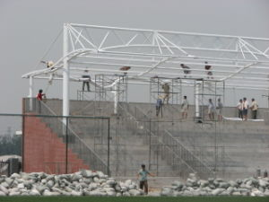 Cold Galvanized Steel Space Truss Structure for Stadium pictures & photos