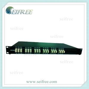 "mm Optical Fiber Splitter 19"" Rack (1*2, 12in1, OM3) pictures & photos"
