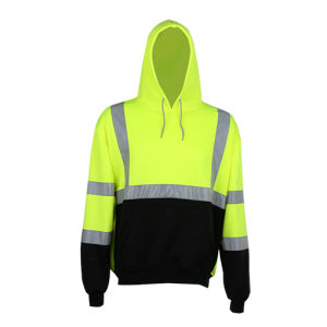 High Visibility Safety Sweatshirt with Reflective Tape