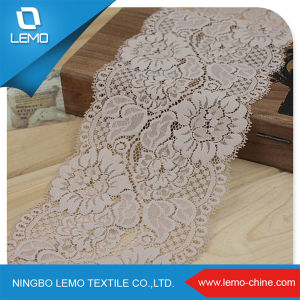 High Quality Fashionable Black Lace 100% Polyester Tricot Lace Fabric pictures & photos
