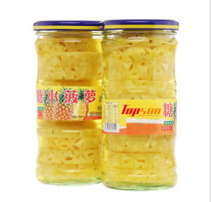 Canned Pineapple in Light Syrup Packed in Glass Bottle pictures & photos