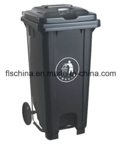 Different Type of 120L Plastic Waste Container with Two Wheels pictures & photos