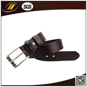 Hot Selling Men′s Style Embossed Pattern Leather Pin Buckle Belt OEM (HJ3004) pictures & photos