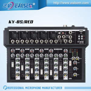 7-Channel Mixer with USB Interface Mixing Console Series (Red/Blue/Black) pictures & photos
