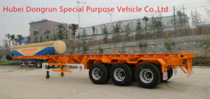 3 Axle Skeletal Container Truck Semi Trailer with Container Lock