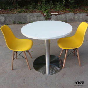 Kkr White Solid Surface Coffee Table for 4 Persons pictures & photos