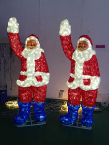 Christmas Outdoor Decoration Beautiful RGB LED Santa Clause Deer Light pictures & photos