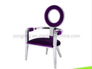 Modern Special Round Back Chair with Top Fabric LC16