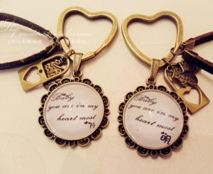 Fashion Key Ring with Chain pictures & photos