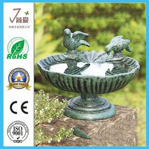 Country Metal Bird Feeder Bird Bath for Garden Decoration pictures & photos