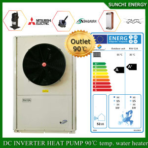Sweden -25c Winter Area Floor Heating Room +55c Hot Water Dhw 12kw/19kw/35kw Evi Air Source Heat Pump Monobloc pictures & photos