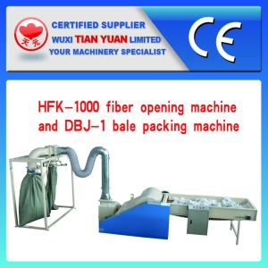 Fiber Opening Machine with Bale Packing Machine pictures & photos