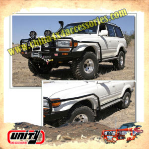 Wholesale High Quality New Steel Side Step Running Board Nerf Bar Side Step Bar Car Pedal for Toyota Land Cruiser LC80 (FJ80) Arb Style with Side Rail Design