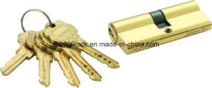 High Security Double Pins Groove Key Cylinder (C3370-261BP) pictures & photos