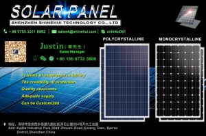 PV Solar Panel 250W 300W 310W Poly and Monocrystalline Silicon pictures & photos
