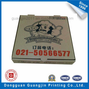 Custom Simple Design White Kraft Paper Corrugated Pizza Box pictures & photos