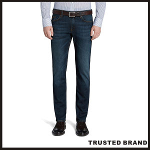 Popular Stylish Design Slim Fit Denim Blue Jeans (TA16513)