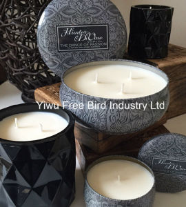 Craft Soy Wax Customized Design Candle in Large Round Tin